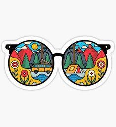 'Travel' Sticker by Butcherjulia Tumblr Stickers, Cool Stickers, Printable Stickers, Laptop Stickers, Hippie Drawing, Hippie Art, Hippie Trippy, Hippie Peace, Trippy Drawings