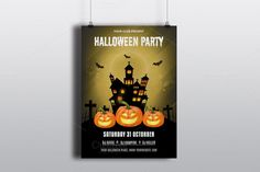 Halloween Party Flyer Template-V408  @creativework247
