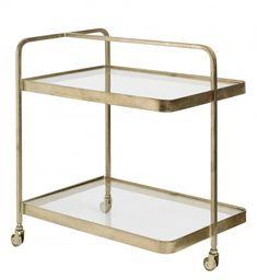 HEIDI, Servierwagen, Metall Glas 002