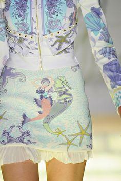 Mermaids, seashell, seahorse and starfish textile patterns ZsaZsa Bellagio