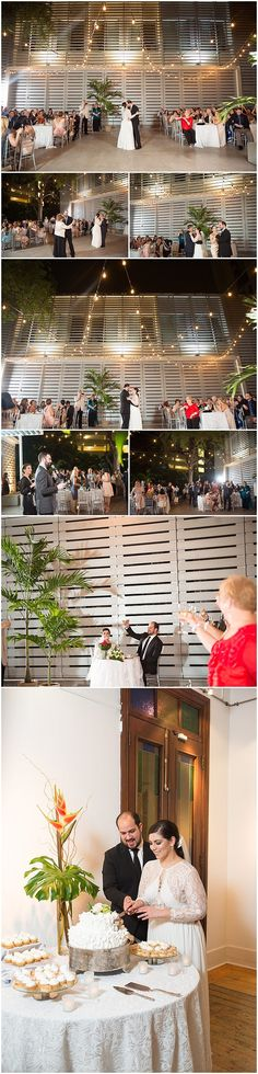 First dance, star wars wedding cake, and outdoor wedding reception at Colegio de Arquitectos, San Juan, by Puerto Rico Wedding Photographer Camille Fontanez.