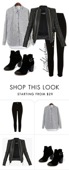 """Untitled #306"" by faithfashionash on Polyvore featuring River Island, Balmain and Chinese Laundry"