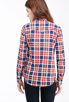 Two-Pocket Plaid Shirt