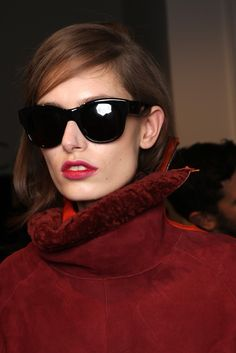 Backstage at Paul Smith RTW Fall 2013