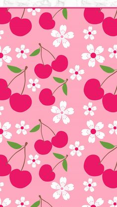 cherry blossoms and cherries Cute Wallpaper Backgrounds, Screen Wallpaper, Mobile Wallpaper, Cute Wallpapers, Wallpaper Lockscreen, Phone Backgrounds, Iphone Wallpapers, Flowery Wallpaper, Summer Wallpaper