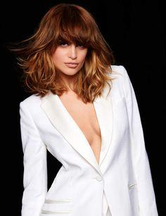 47 Ideas For Hair Cuts Tendence Trends Beauty Brown Blonde Hair, Wavy Hair, New Hair, Medium Hair Cuts, Medium Hair Styles, Curly Hair Styles, Good Hair Day, Great Hair, Stacked Bob Hairstyles