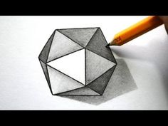 Drawing Tips How to Draw a Hexagon - Drawing Heart, 3d Art Drawing, 3d Drawings, Drawing Tips, Illusion Drawings, Simple Drawings, Learn Drawing, Woman Drawing, Figure Drawing