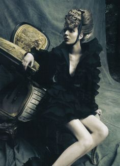 """""""a dream of a dress"""" by paolo roversi in vogue italia"""