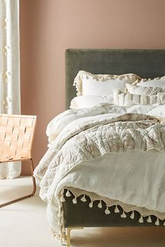 This modern bohemian duvet cover gives your bedroom a fresh, cozy and updated feel #shopthelook #affiliate #boho #vintage #anthropologie #home #homedecor #bedroom #bedding #cover #blanket #modern #modernboho #minimalist #traditional #contemporary #rustic #eclectic #shopstyle #goals #ideas #futurehome #inspo #design #smallspacedecor