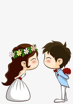 Cartoon married couple PNG and Clipart Wedding Couple Cartoon, Love Cartoon Couple, Cute Cartoon Pictures, Cute Love Pictures, Cute Couple Drawings, Cute Couple Art, Cute Drawings, Couple Clipart, Couples Anime