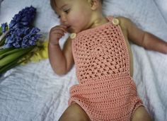 Handmade from pima cotton, girls romper. Handmade in the UK. Sustainable and ethical childrenswear. Baby clothing and accessories. Summer Outfits, Cute Outfits, Girls Rompers, Summer Baby, Crochet Top, Cotton, Clothes, Children, Tops