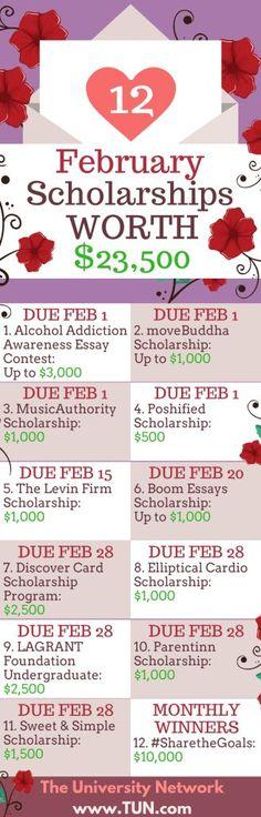12 February Scholarships Worth $23,500 | The University Network