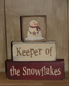 Primitive Winter / Snowmen / Christmas Wood Block sets