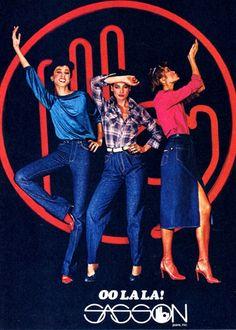 Sasson (1982). La marca de moda en la decada de los ochentas, con una pegajosa rola que aparecia en los comerciales de TV.