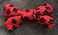 PAW PRINT HAIR BOW - available on therubypig.com