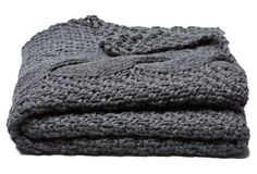 The COZIEST charcoal throw!