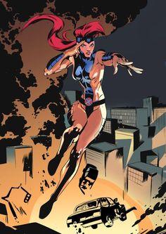 "the-league-of-assassins: "" Jean Grey - H Celal Koc "" Jean Grey Phoenix, Dark Phoenix, Phoenix Force, Marvel Women, Marvel Girls, Marvel Comic Character, Marvel Characters, Marvel Heroines, Marvel Universe"