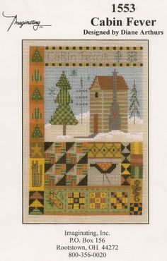 Counted  Cross Stitch  Cabin Fever by by PointedNeedleDestash, $4.00