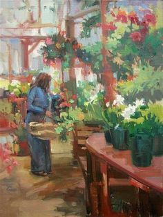 "Daily+Paintworks+-+""Garden+Plans""+-+Original+Fine+Art+for+Sale+-+©+Mary+Maxam"