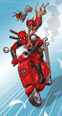 Deadpool Wallpaper, Marvel Wallpaper, Cartoon Wallpaper, Chibi Marvel, Marvel Art, Marvel Comics, Deadpool Art, Deadpool Funny, Deadpool Pictures