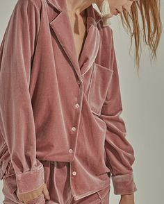 Pajama + Velvet + Dusty Rose  #LOÉIL The COURRIE TOP on theloeil.com #aw16