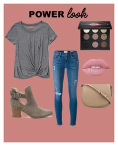 """""""Untitled #53"""" by gracief-9 on Polyvore featuring Abercrombie & Fitch, Frame Denim, Sole Society, MAKE UP FOR EVER, Lime Crime, CÉLINE and powerlook"""