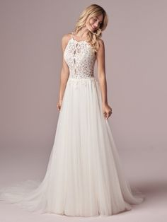 25559 - Lexie by Rebecca Ingram. Affordable beauty! Try her on at Aurora Bridal in Melbourne, FL 321-254-3880