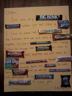Candy Bar Card!!!! LOVE!!! I use to make these for my hubby when we were dating :)