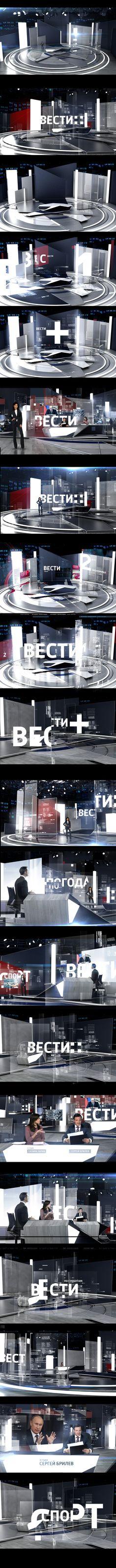 RUSSIA_1 channel NEWS STUDIO on Behance