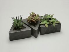 Triangle Concrete Pot