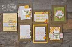 i love these warm and cozy cards made with the Project Life Seasonal Snapshot Collection!