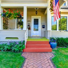 Well-placed plants and flowers enhance your home's curb appeal. Use this guide from The Home Depot for curb appeal landscaping ideas. Porch Mailbox, Front Porch, Craftsman Exterior, Exterior Shutters, Wood Shutters, Front Yard Landscaping, Landscaping Ideas, Indoor Fountain, Garden Club