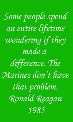 United States Marine Corps. We salute you!!
