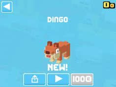 Just unlocked Dingo! #crossyroad