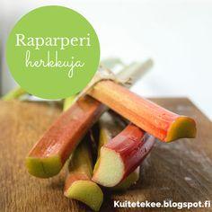 Raparperimehun ohje - ku ite tekee Carrots, Paper Crafts, Vegetables, Food, Tissue Paper Crafts, Paper Craft Work, Essen, Carrot, Papercraft