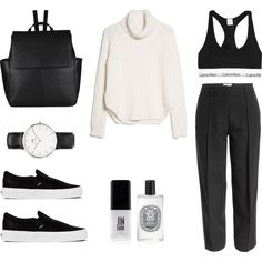 Casual Sunday by fashionlandscape on Polyvore featuring Mode, MANGO, Maison Margiela, Calvin Klein Underwear, Vans, John Lewis, Daniel Wellington, Diptyque and JINsoon