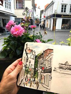 Sketchbook ,drawing in Stavanger. To see more and read about finding time to do art follow the link . Artist Magny Tjelta