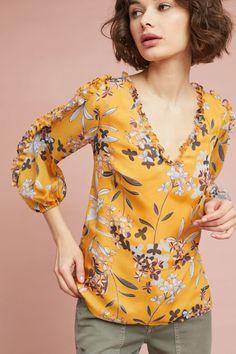 Slide View: 3: Shoshanna Silk Floral Blouse
