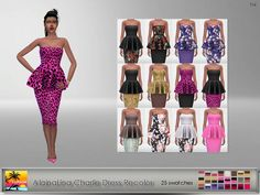 Its a standalone recolor of AlainaLina dress and you will need the original mesh. Found in TSR Category 'Sims 4 Female Everyday'