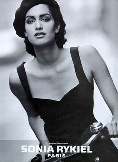 Yasmeen working the French gamine look for Sonia Rykiel in the '90s.