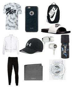 """Untitled #7"" by jashonwoodard on Polyvore featuring NIKE, Moshi, Under Armour, Topman, McQ by Alexander McQueen, Michael Kors, G-Shock, Axe, men's fashion and menswear"