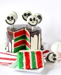 The Nightmare Before Christmas Layer Cake
