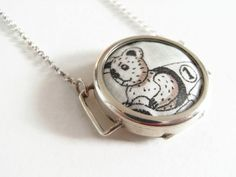 """I love Alan: Liberty of London Grayson Perry """"Flo"""" print fabric solid silver pendant by ohyouhandsomedevil on Etsy"""