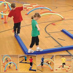 Run, hop, jump and wiggle your way through a variety of fun obstacles. Activity Games For Kids, Gross Motor Activities, Sensory Activities, Proprioceptive Activities, School Carnival Games, Kids Obstacle Course, Exercise For Kids, Physical Education, Teaching Kids