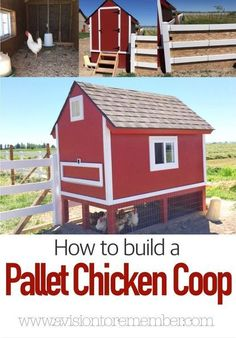 barn pallet chicken coop, homesteading, outdoor living, pallet, repurposing upcycling You are in the Cheap Chicken Coops, Chicken Coop Pallets, Diy Chicken Coop Plans, Backyard Chicken Coops, Building A Chicken Coop, Building A Shed, Chickens Backyard, Backyard Farming, Chicken Coop Designs
