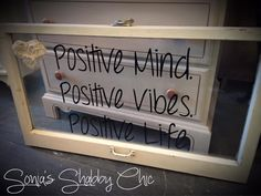 Re-purposed vintage window sign! Accented by our own Junk Monkey chalky paint! New signs added everyday at Sonia's Shabby Chic! www.styleshabby.com