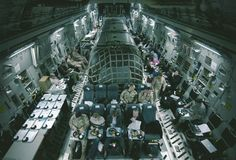 The Air Force uses Airstream trailers inside cargo planes to transport American officials in a civilized fashion. People like Dick Cheney would hang out in his private Airstream chambers while the plebs rode coach.