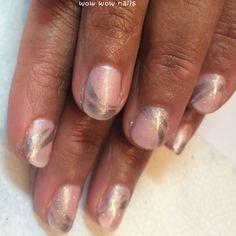 Charmaine's nail design! #strawberrysmoothie #shellac #silver #glitter #glitternails #m45 #stampingnailart #konad #pink #frenchtips #wowwownails #toronto #beauty #fashion #nailtrend #notd #nailjunkie #nailporn #nailgasm