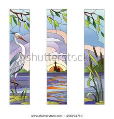 Find Stained Glass Heron stock images in HD and millions of other royalty-free stock photos, illustrations and vectors in the Shutterstock collection. Stained Glass Birds, Stained Glass Crafts, Stained Glass Designs, Stained Glass Patterns, Stained Glass Windows, Glass Painting Designs, Paint Designs, L'art Du Vitrail, Glass Wall Art