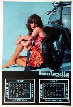 Jean Shrimpton Lambretta Calendar January - February 1967